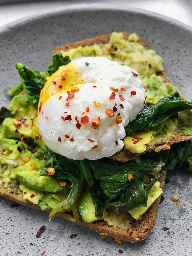avocado toast with a poached egg recipe