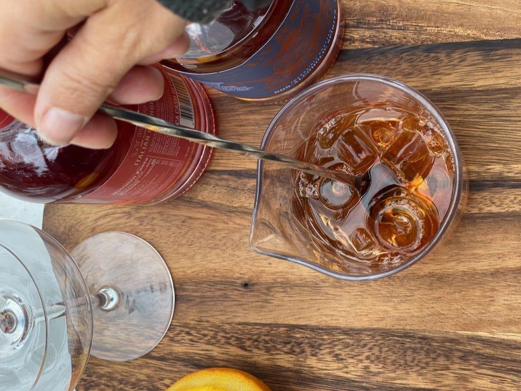 best bar spoon stirring a mocktail