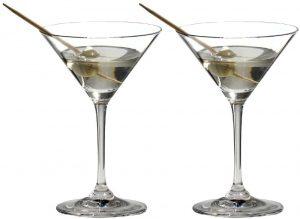 riedel crystal v-shaped martini glasses