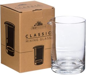 simple by durable modern mixing glass without a decorative pattern