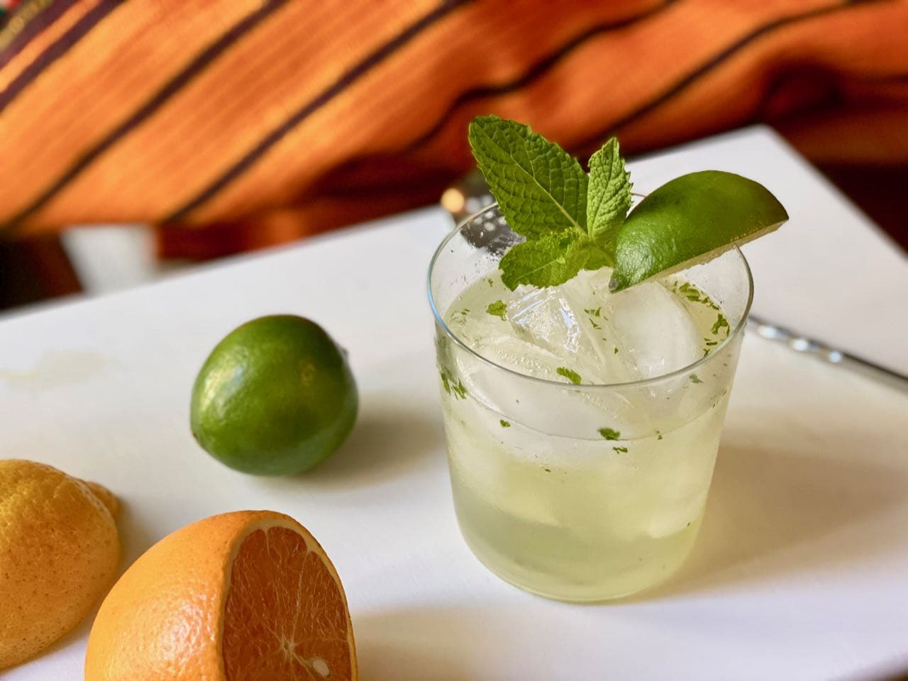 non alcoholic vodka in a mule mocktail