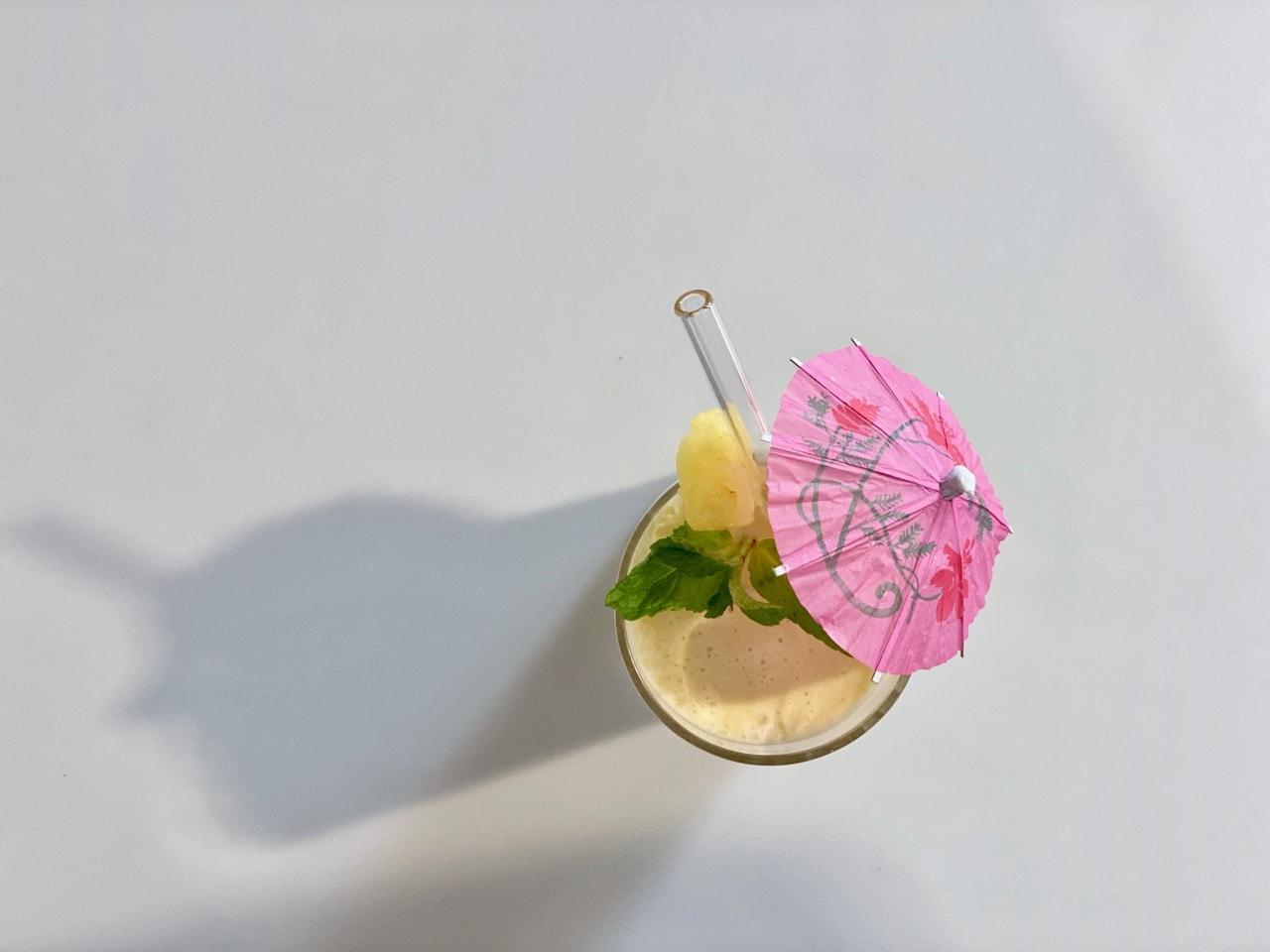 non alcoholic rum in a pina colada