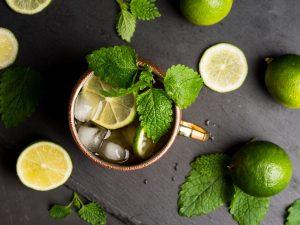 ginger beer mocktail with lime