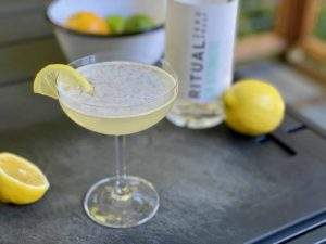 ritual gin cocktail lemon drop