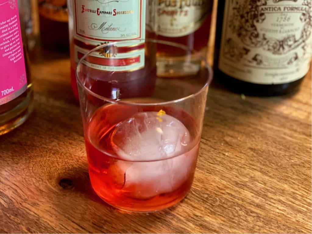 Negroni with alcohol free vermouth