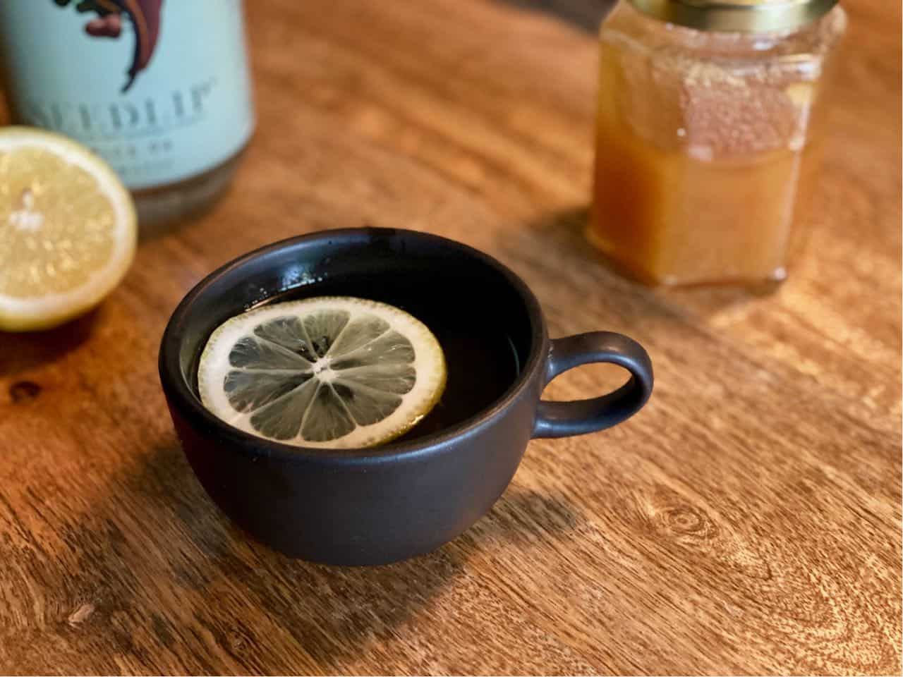 hot toddy mocktail with seedlip