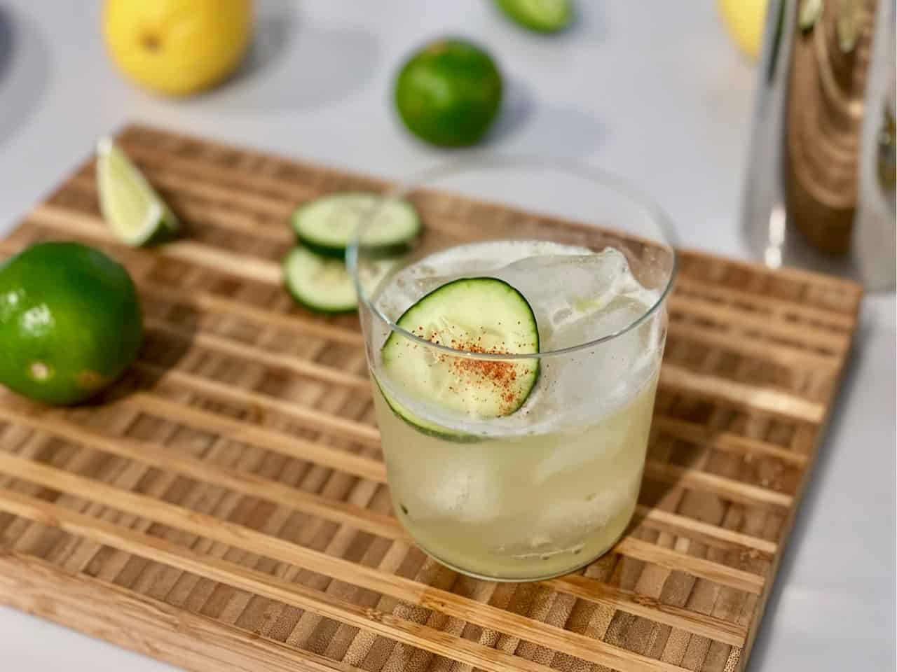 mezcal mule mocktail with ritual tequila