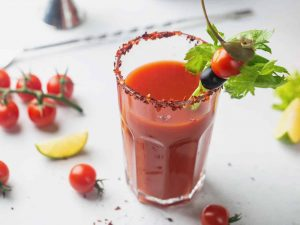 Bloody Mary with non alcoholic vodka