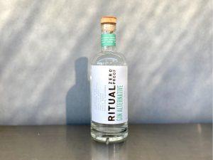 ritual zero proof gin bottle