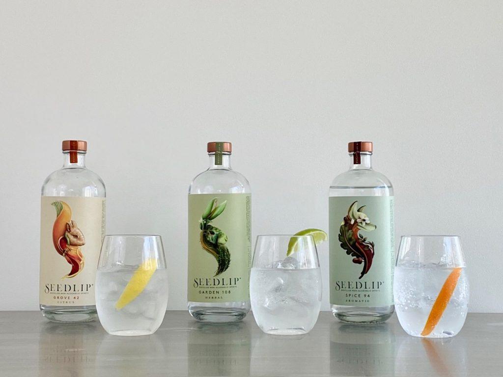 testing seedlip spirits in gin and tonic